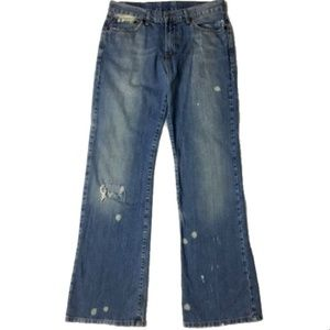 Lucky Brand Holster Block Fit Distressed Jeans